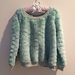 Toddler Girls Fluffy Teddy Bear Pullover XS 3-4 yr